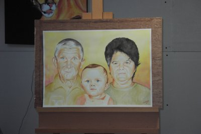 Petit-fils et grands-parents - Les portraits -
